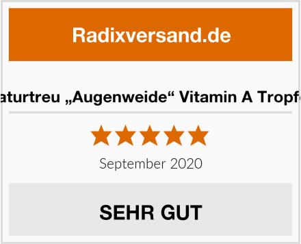 """Naturtreu """"Augenweide"""" Vitamin A Tropfen Test"""