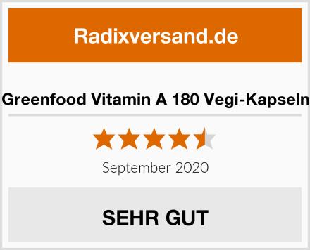Greenfood Vitamin A 180 Vegi-Kapseln Test