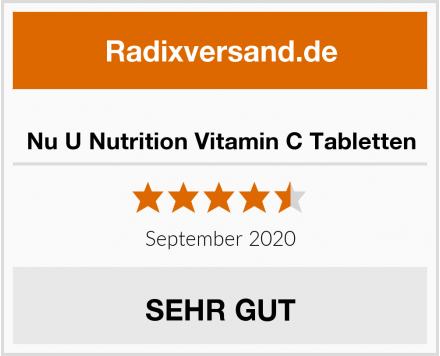 Nu U Nutrition Vitamin C Tabletten Test