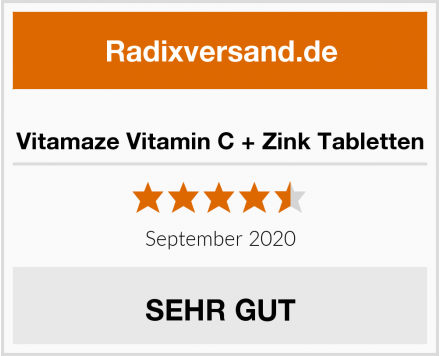 Vitamaze Vitamin C + Zink Tabletten Test