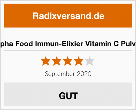Alpha Food Immun-Elixier Vitamin C Pulver Test