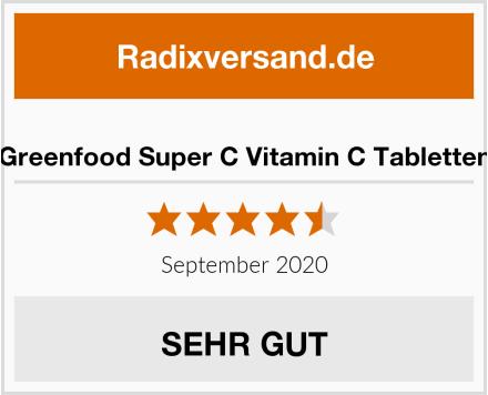 Greenfood Super C Vitamin C Tabletten Test