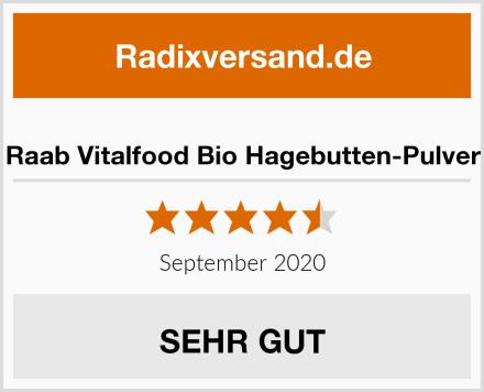 Raab Vitalfood Bio Hagebutten-Pulver Test