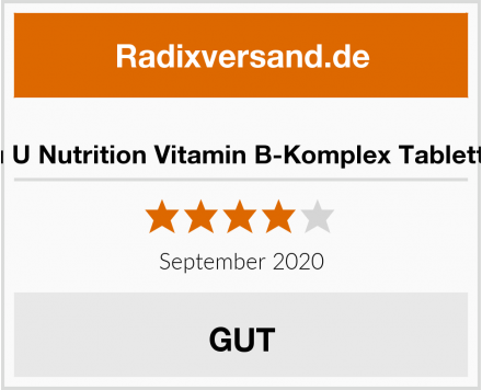Nu U Nutrition Vitamin B-Komplex Tabletten Test