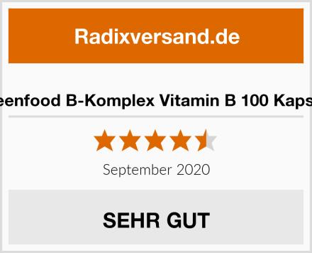 Greenfood B-Komplex Vitamin B 100 Kapseln Test