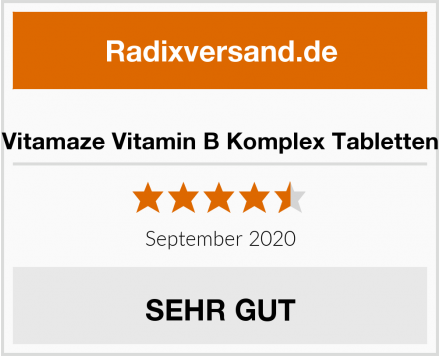 Vitamaze Vitamin B Komplex Tabletten Test
