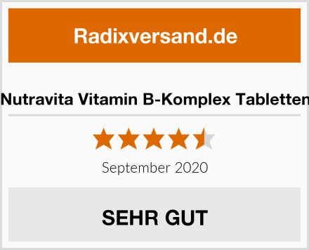 Nutravita Vitamin B-Komplex Tabletten Test