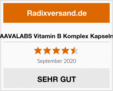 AAVALABS Vitamin B Komplex Kapseln Test