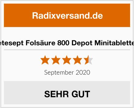 tetesept Folsäure 800 Depot Minitabletten Test