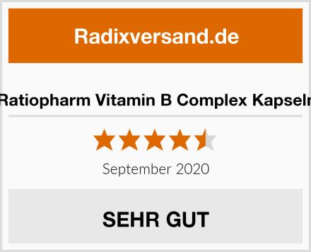 Ratiopharm Vitamin B Complex Kapseln Test