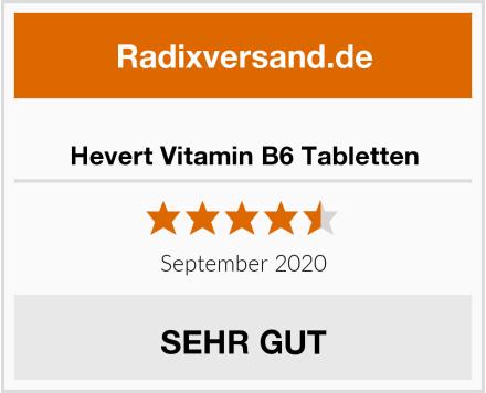 Hevert Vitamin B6 Tabletten Test