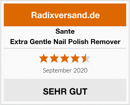 Sante Extra Gentle Nail Polish Remover Test