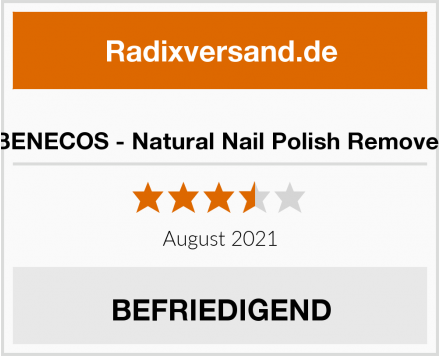 BENECOS - Natural Nail Polish Remover Test