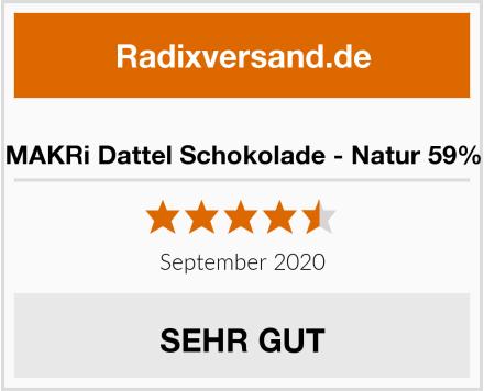 MAKRi Dattel Schokolade - Natur 59% Test