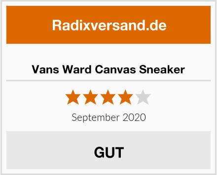 Vans Ward Canvas Sneaker Test