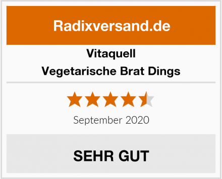 Vitaquell Vegetarische Brat Dings Test