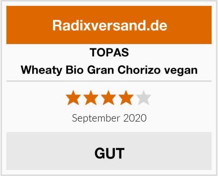 Topas Wheaty Bio Gran Chorizo vegan Test