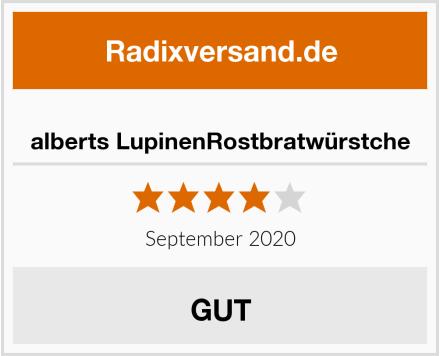 alberts LupinenRostbratwürstche Test