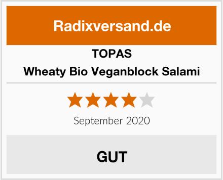 Topas Wheaty Bio Veganblock Salami Test