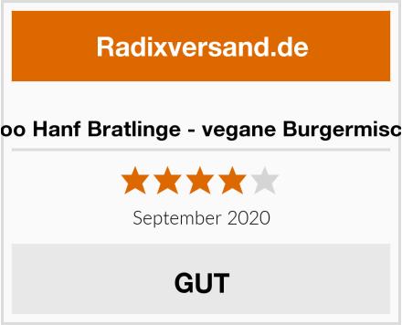 Hanfoo Hanf Bratlinge - vegane Burgermischung Test