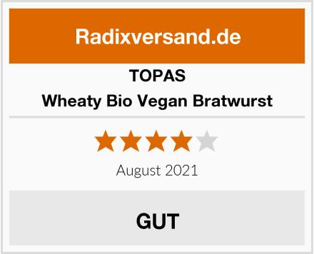 Topas Wheaty Bio Vegan Bratwurst Test