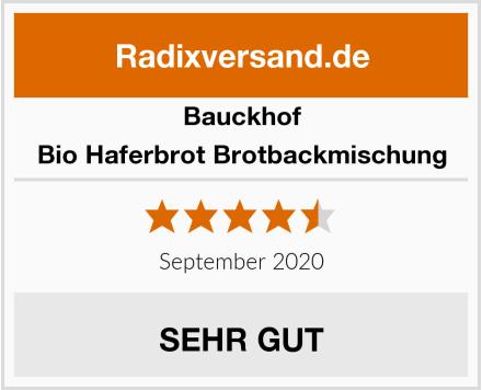 Bauckhof Bio Haferbrot Brotbackmischung Test