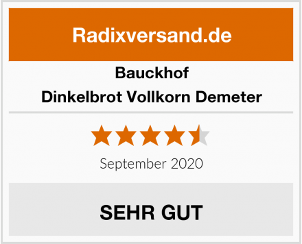 Bauckhof Dinkelbrot Vollkorn Demeter Test