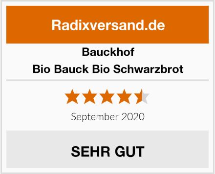 Bauckhof Bio Bauck Bio Schwarzbrot Test