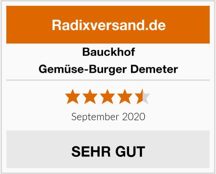 Bauckhof Gemüse-Burger Demeter Test