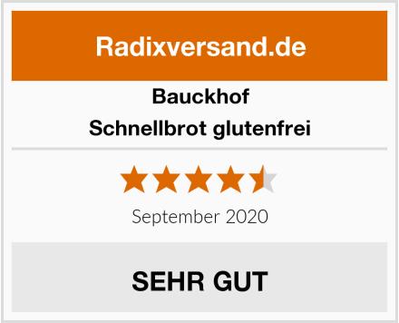 Bauckhof Schnellbrot glutenfrei Test