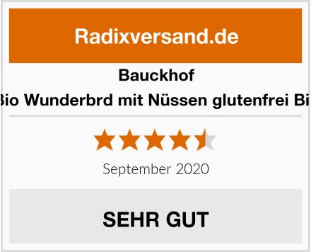 Bauckhof Bio Wunderbrd mit Nüssen glutenfrei Bio Test