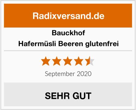 Bauckhof Hafermüsli Beeren glutenfrei Test