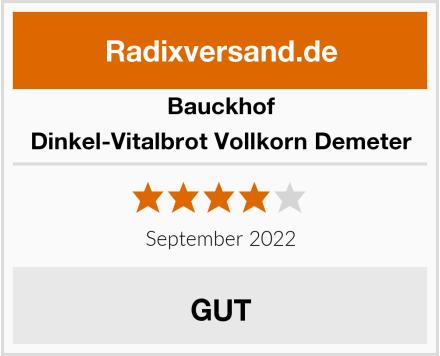 Bauckhof Dinkel-Vitalbrot Vollkorn Demeter Test