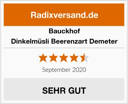 Bauckhof Dinkelmüsli Beerenzart Demeter Test