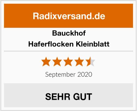 Bauckhof Haferflocken Kleinblatt Test