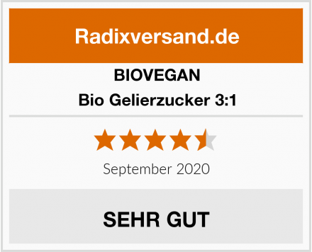 BIOVEGAN Bio Gelierzucker 3:1 Test