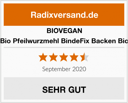 BIOVEGAN Bio Pfeilwurzmehl BindeFix Backen Bio Test