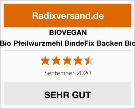 BIOVEGAN Bio Pfeilwurzmehl BindeFix Backen Bio Test