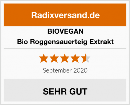 BIOVEGAN Bio Roggensauerteig Extrakt Test
