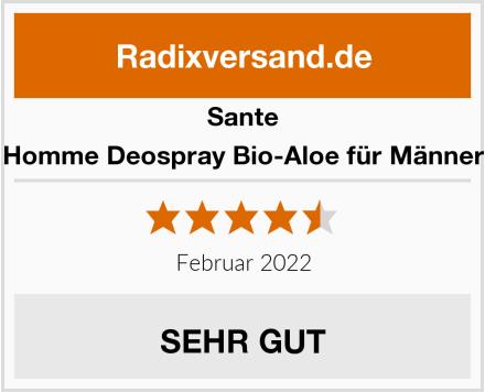 Sante Homme Deospray Bio-Aloe für Männer Test