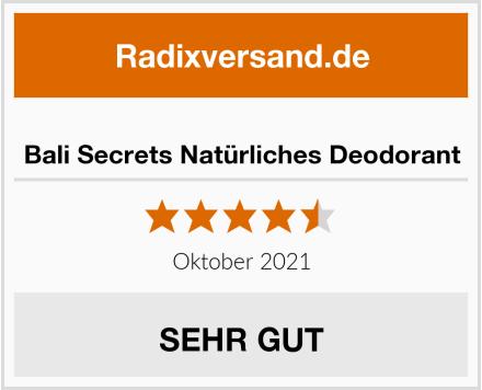 Bali Secrets Natürliches Deodorant Test