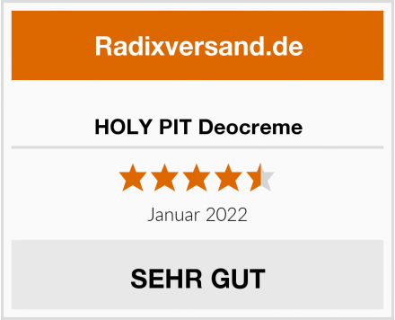 HOLY PIT Deocreme Test
