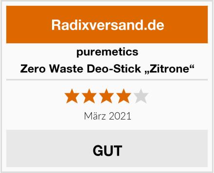 "puremetics Zero Waste Deo-Stick ""Zitrone"" Test"