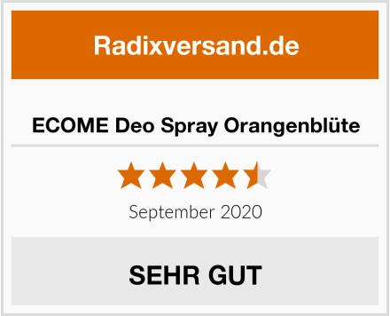 ECOME Deo Spray Orangenblüte Test