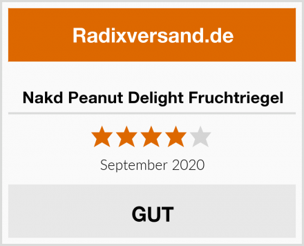 Nakd Peanut Delight Fruchtriegel Test