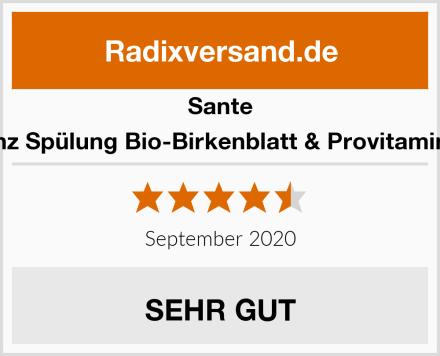 Sante Glanz Spülung Bio-Birkenblatt & Provitamin B5 Test