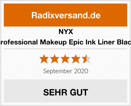 NYX Professional Makeup Epic Ink Liner Black Test