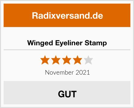Winged Eyeliner Stamp Test