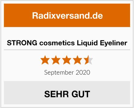 STRONG cosmetics Liquid Eyeliner Test