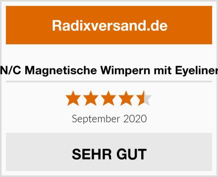 N/C Magnetische Wimpern mit Eyeliner Test